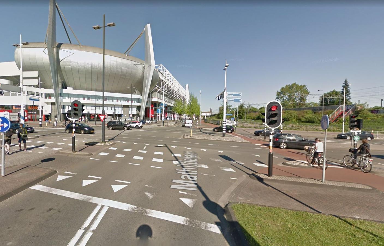Op de kruising Mathildelaan - Elisabethtunnel gebeurden de afgelopen drie jaar veel ongelukken.