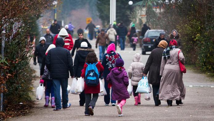 Vluchtelingen bij aankomst in Nederland