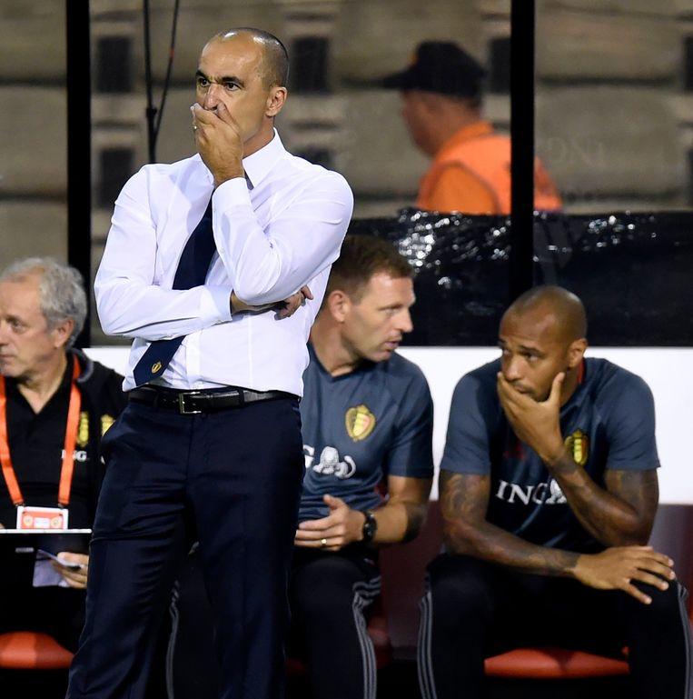 BRUSSELS, BELGIUM - SEPTEMBER 01 :  Roberto Martinez head coach of Belgian Team  during a FIFA international friendly match between Belgium and Spain at the King Baudouin Stadium on September 01, 2016 in Brussels, Belgium , 1/09/2016 ( Photo by Philippe Crochet / Photonews Beeld null