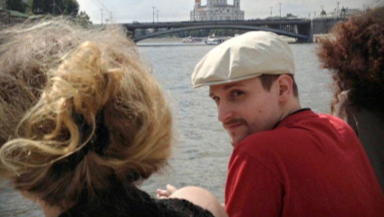 Edward Snowden in Moskou, op de Russische televisie Beeld ap