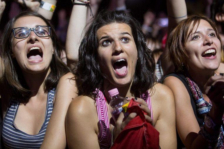 Enthousiast publiek in Boedapest. Beeld epa
