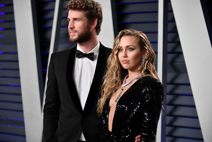Liam Hemsworth en Miley Cyrus.