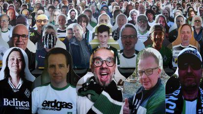 In Mönchengladbach spelen ze zaterdag voor een 'vol' stadion: fans betalen voor foto van zichzelf op karton