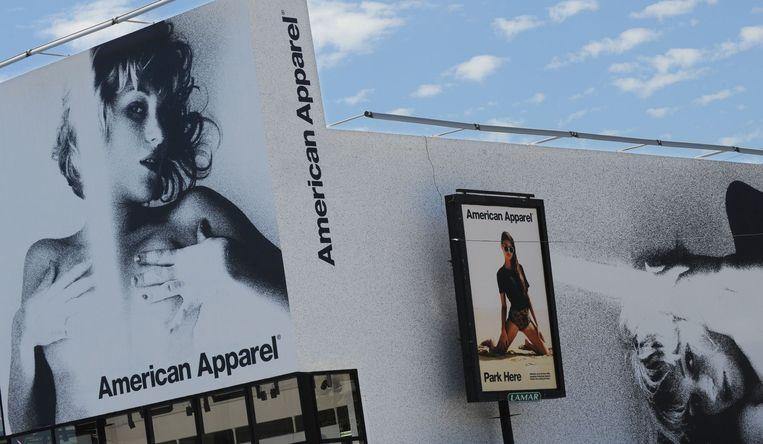 Exterieur van een American Apparel-winkel in Hollywood. Beeld AFP