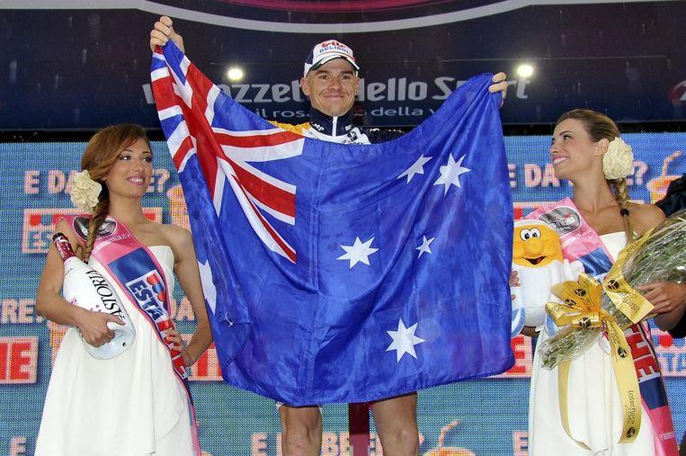 Hansen met de Australische vlag Beeld AP