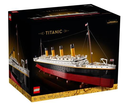 De luxe doos van de Titanic-set.