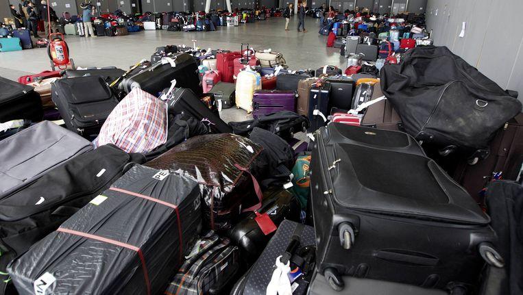 De lading gestrande bagage groeit nog steeds aan. Beeld BELGA