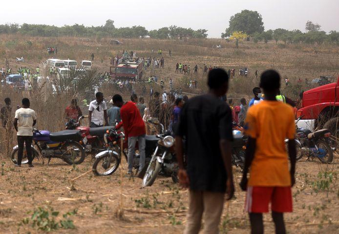 Het toestel kwam in de buurt van het vliegveld in Abuja terecht.