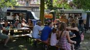 Lekker weer en... files op HAP Foodtruckfestival in Stadspark