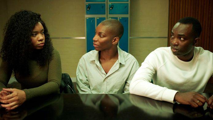 Weruche Opia, Michaela Coel en  Paapa Essiedu in 'I May Destroy You'