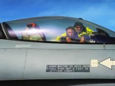 Even genieten van een F16