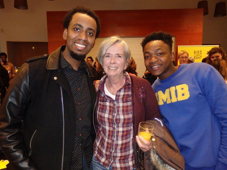 Gwayne Elshot, Corna Dirks en Elvis Ruth-Penuel (vlnr), activisten van de antiracismebeweging. Beeld Schuim