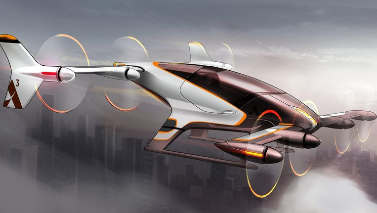 Artist's impression van de zelfvliegende taxi Beeld Airbus Group