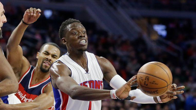 Reggie Jackson was met 39 punten de grote uitblinker bij de Pistons. Beeld AP