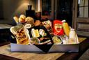 Naast afhaalmaaltijden kan je ook een ontbijtmand afhalen bij Thuis Gekookt.