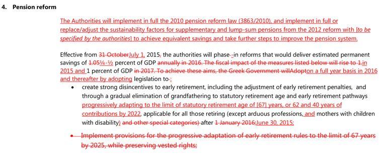 Wijzigingen in de voorstellen voor de pensioenhervorming. Beeld rv