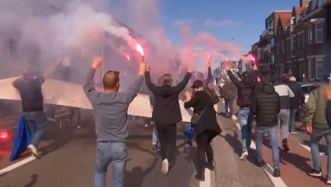 Honderden Club-supporters nemen Gistelsesteenweg in om spelersbus uit te wuiven
