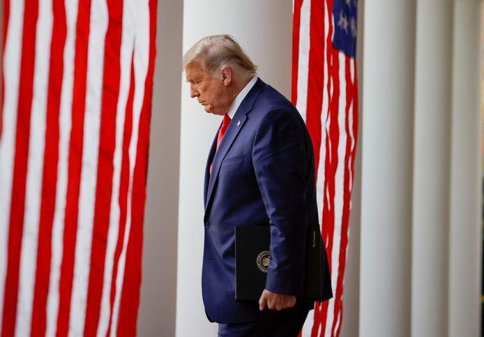 De Amerikaanse president Donald Trump.