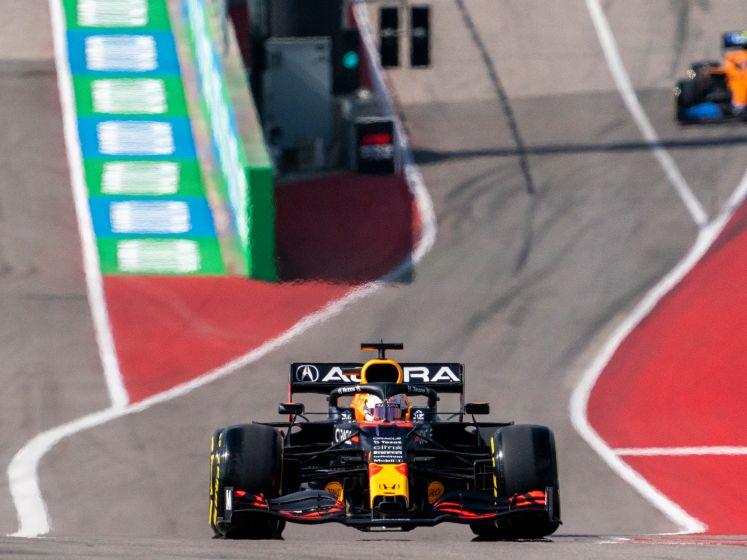 Aanvaring tussen Verstappen en Hamilton tijdens vrije training