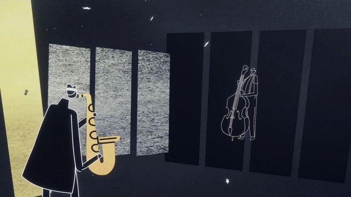 Soms duikt er ook wat kleur op in 'Genesis Noir', maar het merendeel van de game is in sfeervol zwartwit.