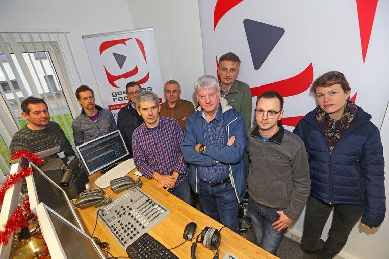 De radiomedewerkers haalden vorig jaar samen hun zender uit de lucht.