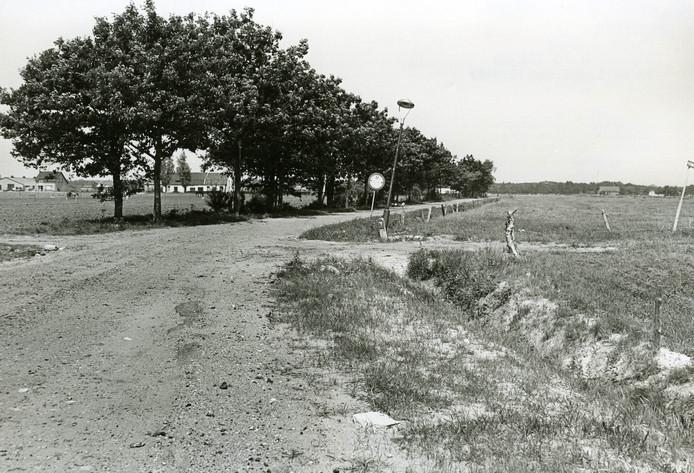 Buitengebied van Oss bij de Keltenweg in 1970 vóór de komst van de grote dozen.