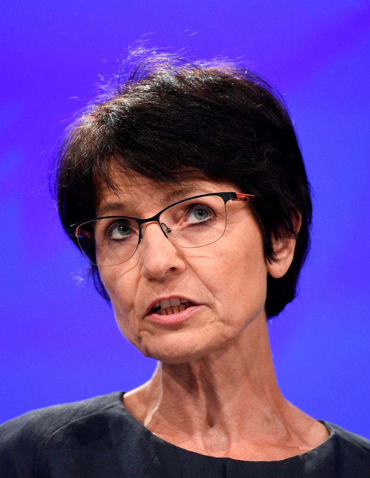Europees commissaris voor Werk en Sociale Zaken Marianne Thyssen. Beeld AFP