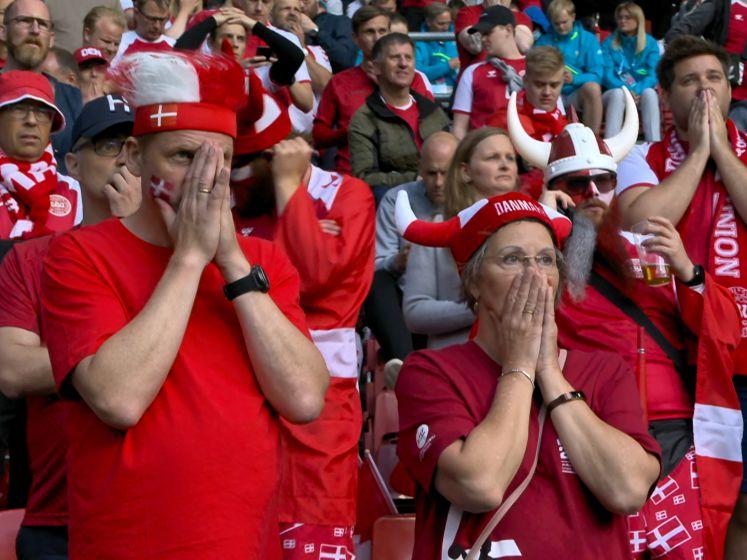 Eriksen zijgt neer tijdens EK-match: fans en spelers tot tranen toe beroerd