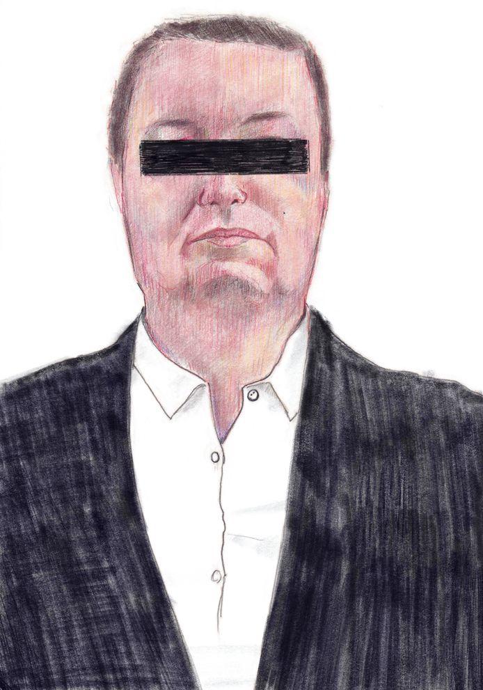 tekening Vincent T, illustratie van tekenaar Jeroen Nissen