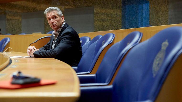 Louis Bontes werd in 2013 uit de Tweede Kamerfractie van de PVV gezet en ging verder als eenmansfractie. Beeld anp