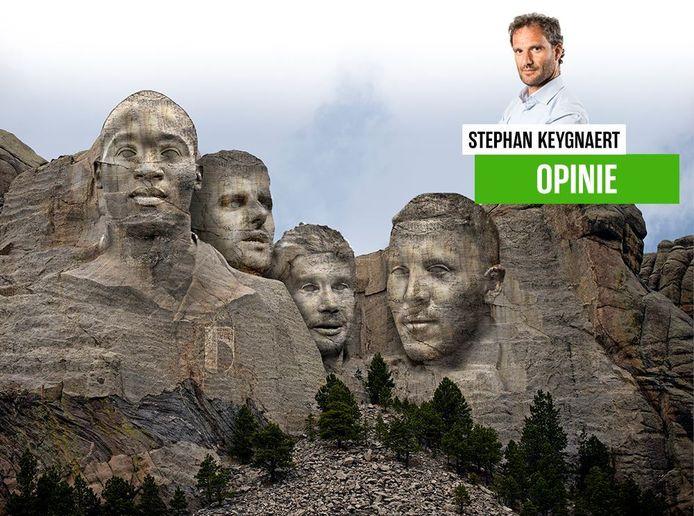 De Mount Rushmore van de Rode Duivels.