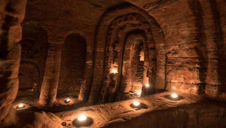 Foto van de ontdekte grot in Birmingham. Beeld Caters News Agency