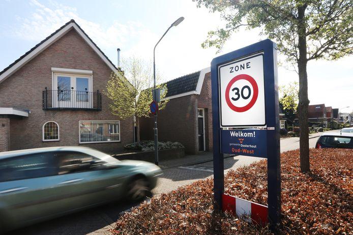 Een 30 km zone in Oosterhout.