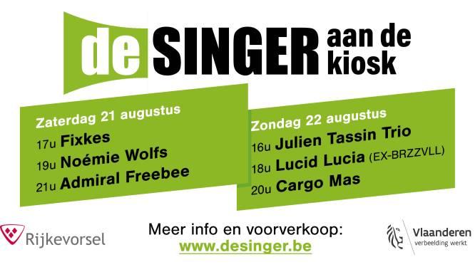 Muziekclub De Singer organiseert tweedaags festival aan kiosk