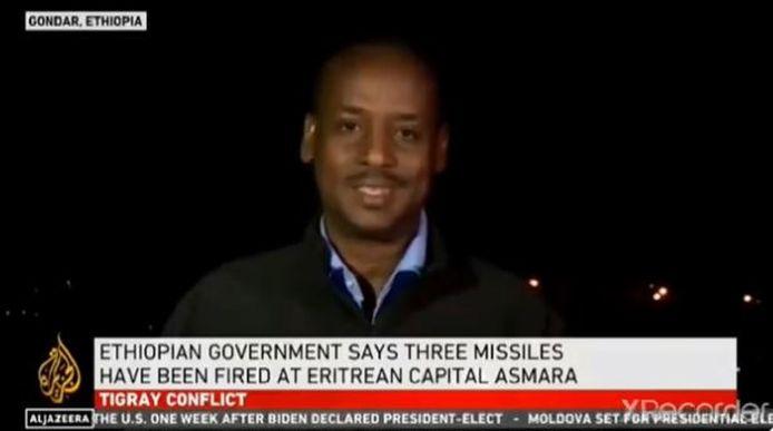 Twee raketten kwamen volgens nieuwszender Al-Jazeera terecht op de internationale luchthaven van Asmara.
