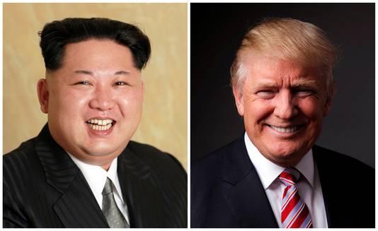 Kim Jong-un en Donald Trump.