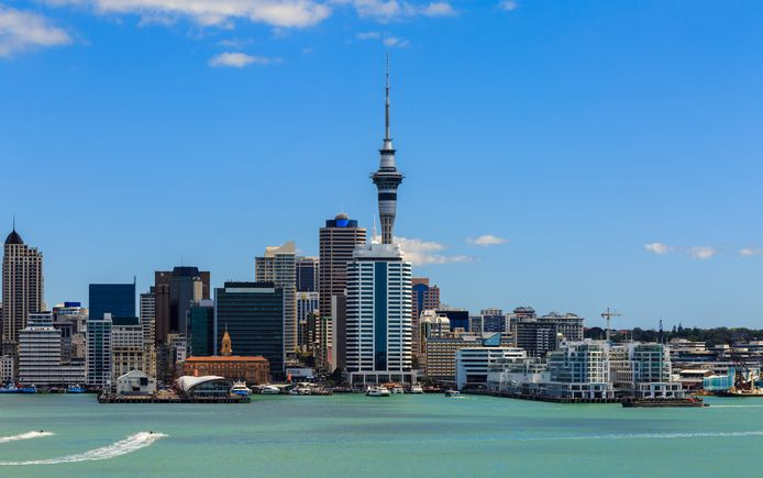 Een blik op Auckland, de grootste stad van Nieuw-Zeeland.