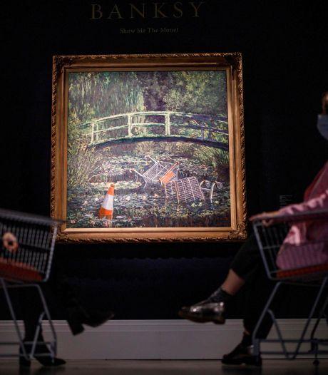 Monet-parodie Banksy geveild voor 8,5 miljoen euro