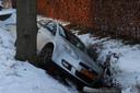Auto belandt in sloot in Schijndel