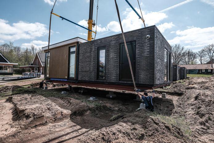 De Tiny Houses in De Haart hebben een oppervlakte van 55 vierkante meter. Het totale perceel meet zo'n 270 m2.