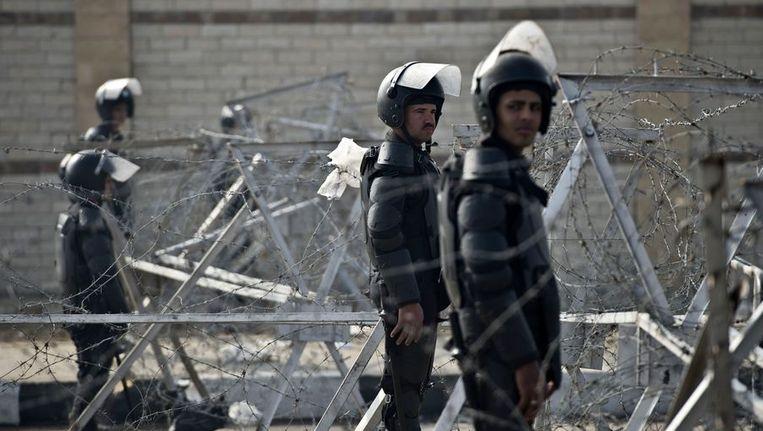 Archieffoto van Egyptische oproerpolitie Beeld afp
