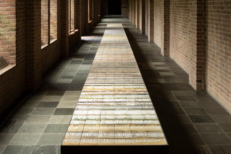 Tegeltableau Circumambulatio van Rabi Koria in de Sint-Paulusabdij. Beeld Mischa Keijser