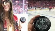 Ex-pornoster moet borstoperatie ondergaan nadat ze geraakt wordt door puck tijdens ijshockeywedstrijd