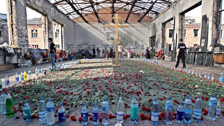 Bij de gijzeling kwamen 331 gijzelaars en 31 terroristen om het leven. Onder de doden waren 186 kinderen. Foto EPA Beeld