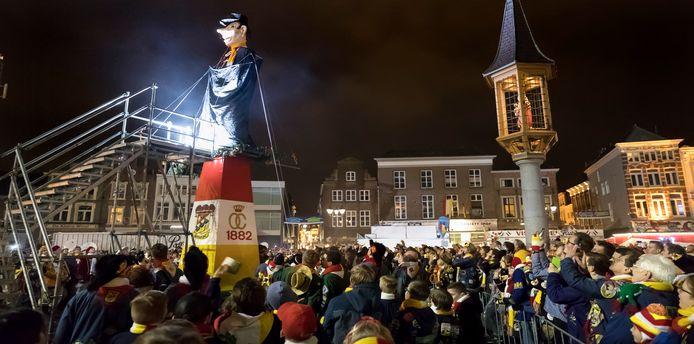 Geen Knillis dit jaar op de Bossche Markt, wellicht wel een onthulling op carnavalszondag en begrafenis (dinsdagavond) digitaal.