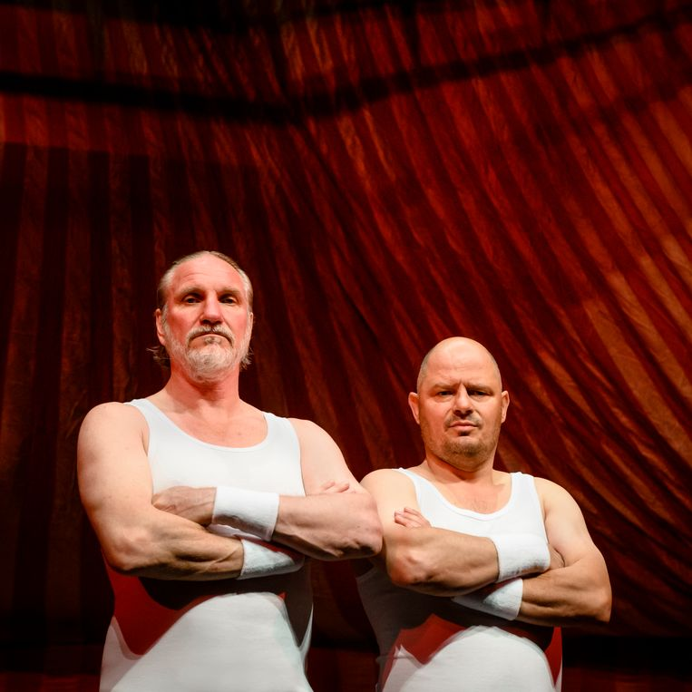 Peter Blok en Bas Hoeflaak werken voor het eerst samen in dit toneelstuk.  Beeld Annemieke van der Togt