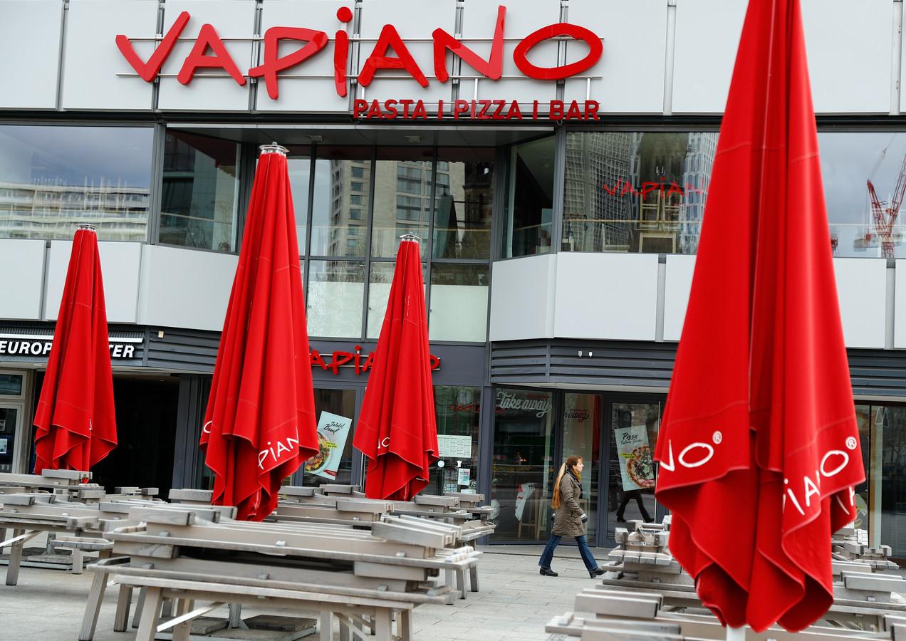 Een Vapiano restaurant in Berlijn. Ook daar is de omzet geheel weggevallen door de coronacrisis.