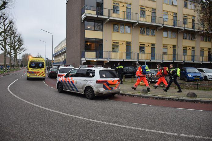Het traumateam is per helikopter naar Lankforst gebracht.