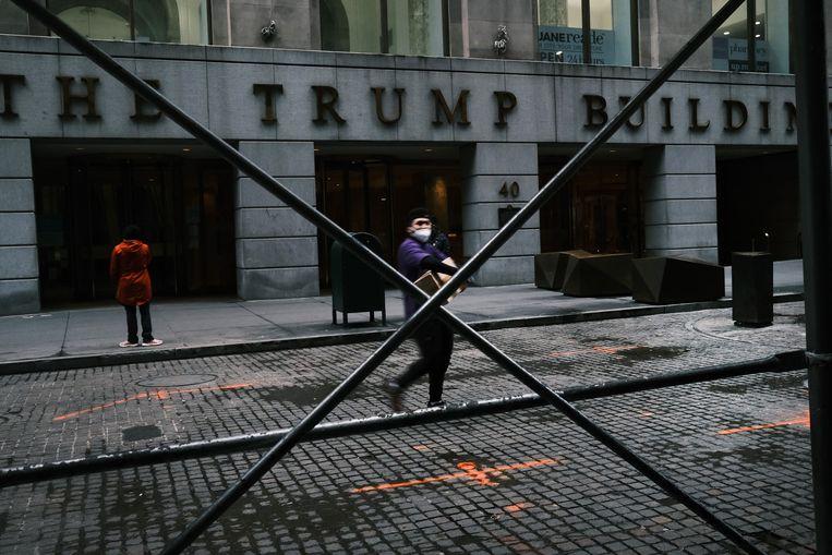 De Trump Building in Wall Street, New York. De belastingverlagingen van president Trump hebben vooral geleid tot meer dividenden voor aandeelhouders. Beeld Getty Images