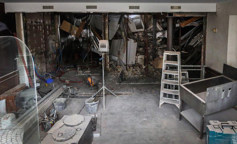 Zo zag het restaurant er binnen uit vlak na de instorting.